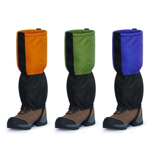 Outdoor Waterproof Windproof Gaiters Leg Protection Guard Skiing Hiking Climbing Blue