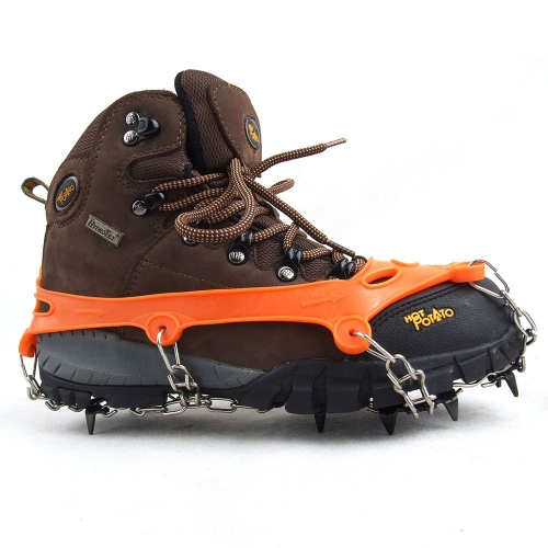 1 Pair 11 Teeth Claws Crampons Non-slip Shoes Cover Stainless Steel Chain Outdoor Ski Ice Snow Hiking Climbing от Tomtop.com INT