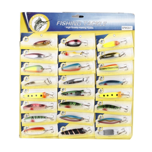 Buy 2Fishing Lure Mixed Color/Size/Weight/Hook/ Metal Spoon Hard Baits Tackle