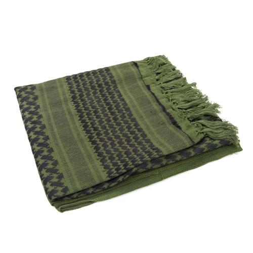 110110cm Military Arabian Shemagh Tactical Desert Head Scarf Fringed Shawl Stole Muffler Headdress Unisex 100 Cotton Army Green