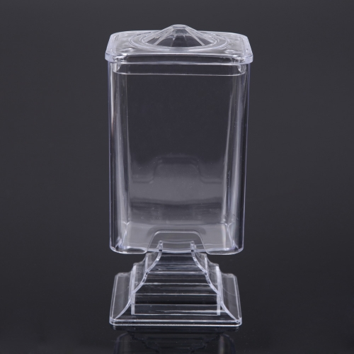Makeup Cotton Pad Box Nail Art Remover Paper Wipe Holder Container Storage Case Transparent от Tomtop.com INT