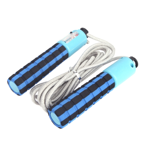 Buy Automatic Jump Counter Adjustable Skipping Rope Jumping Exercise Fitness Training Gym Sports Foam Sponge Handle Blue