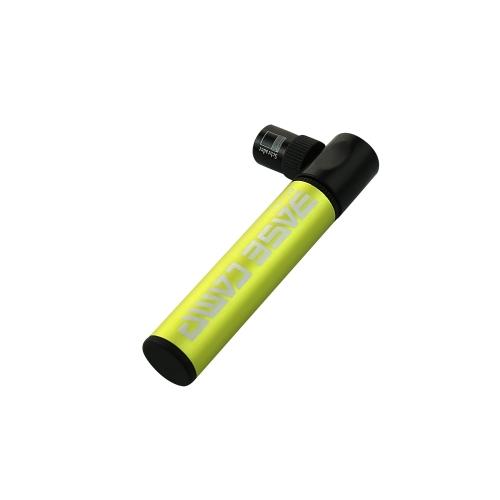 Buy Aluminum Alloy Bicycle Air Pump Mini Portable Bike Tire Inflator Super Light Small Accessory Black