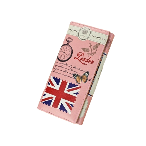Buy Europe Fashion Women Purse Colorful Print PU Leather Wallet Card Holder Clutch Bag Union Jack Flag (Pink)