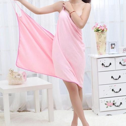 Buy Super Absorbent Fiber Warm Magic Spaghetti Bath Towel Soft Bathrobe Skirt