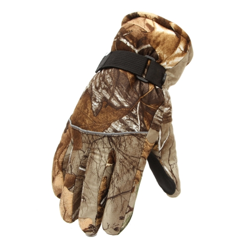 Snowboard Skiing Riding Cycling Sports Gloves Outdoor Windproof Winter Thermal Thick Warm Men Camouflage