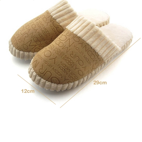 Indoor Unisex Fashion Slippers for Lovers Autumn and Winter Warm Super-soft Velvet Shoes at Home от Tomtop.com INT
