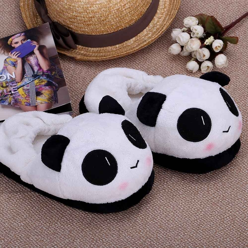 Indoor Novelty Slipper for Lovers Winter Warm Slippers Lovely Cartoon Panda Face Soft Plush Household Thermal Shoes 26cm / 10.24in от Tomtop.com INT