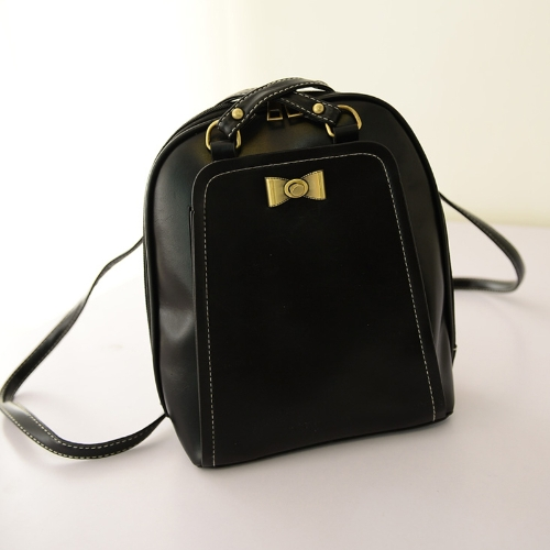 Buy Cute Women Girl Backpack PU Leather Bow Decoration Large Capacity Bags