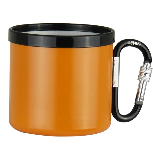 Outdoor Camping Ultralight Portable 400ML Aluminum Alloy Travel Water Cup with Screw Lock Buckle