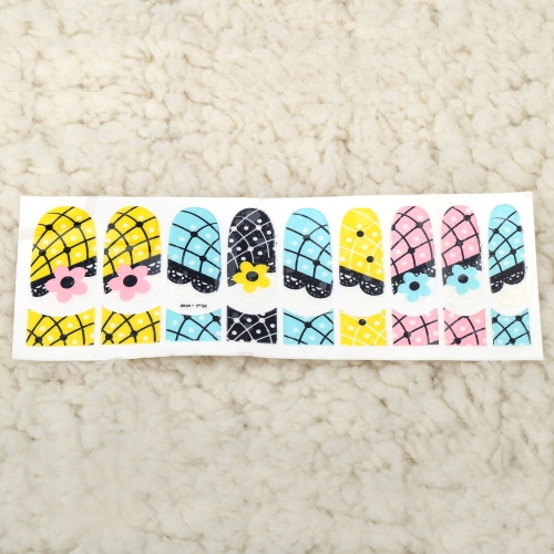 Buy One Sheet Mix Style 3D Glitter Nail Art Stickers Patch Wraps Fingers Toes Tips Decoration