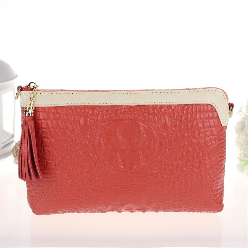 Buy Luxury Women Clutch Bag Crocodile Pattern Genuine Leather Shoulder Chain Messenger Purse