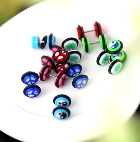 Buy 1Unisex Acrylic Fake Ear Plug Tunnel Stretcher Expander Expansion Stud Earrings Cheater