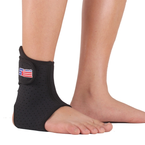SX662 Adjustable Sports Elastic Ankle Foot Brace Support Wrap Black