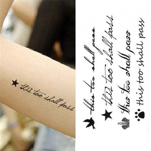 Buy Tattoo Sticker English Letters Pattern Waterproof Temporary Tattooing Paper Body Art