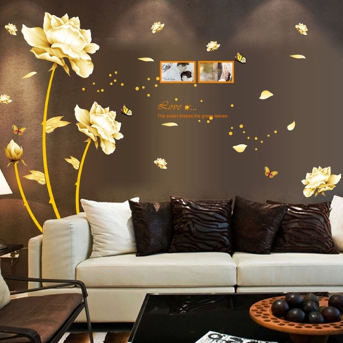Buy Removable Wall Sticker Blooming Flowers Art Decals Mural DIY Wallpaper Room Decal 60 * 90cm