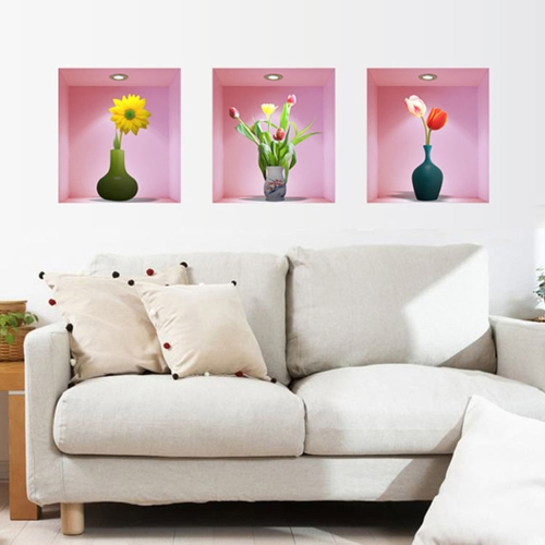 Buy Removable Wall Sticker Blooming Tulips Art Decals Mural DIY Wallpaper Room Decal