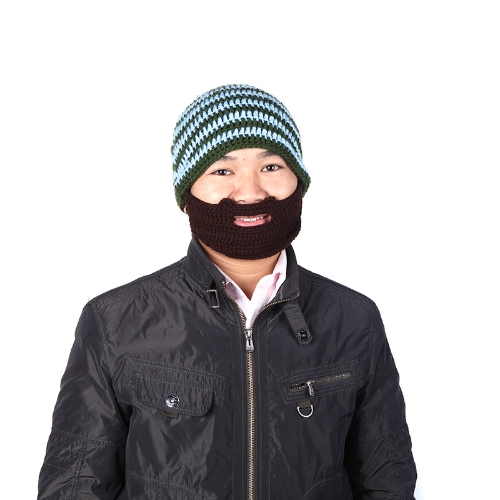 Buy Beard Beanie Mustache Hat Mask Face Knit Ski Winter Cap Unisex Blue
