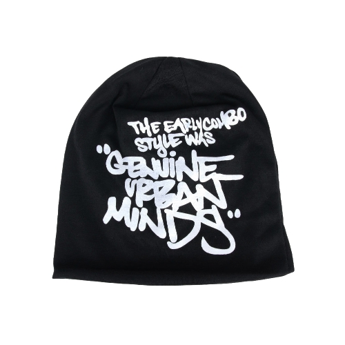 Buy Korean Fashion Men Women Beanie Letter Print Hip-hop Unisex Knitted Hat Cap Headwear Black