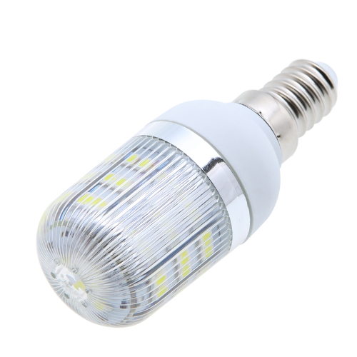 E12 10W 48 LED 5730 SMD Cover Corn Spot Light Lamp Bulb Warm Pure White 110V