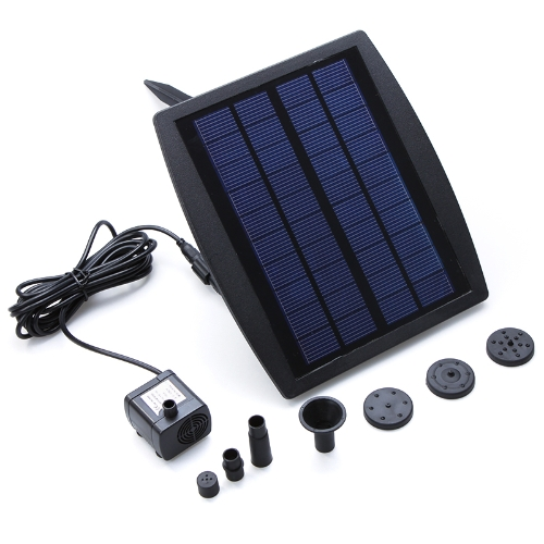 Solar Power Water Pump Decorative Fountain for Garden Pond Pool Water Cycle 7.2V