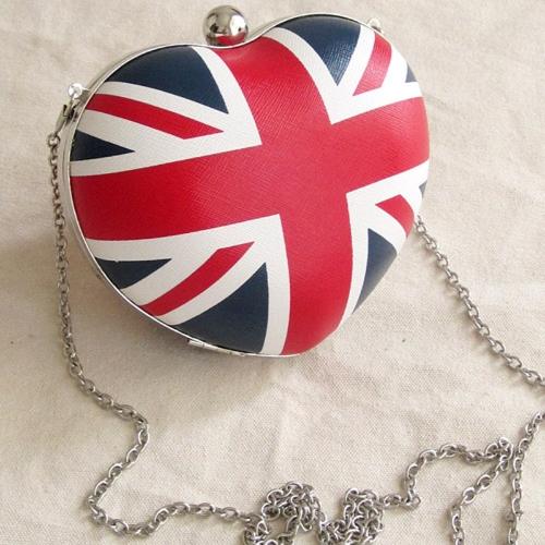 Buy UK England Flag Heart Shaped Women Girls Messenger Bag Shoulder Day Clutch Evening Chain Mini Box Crossbody