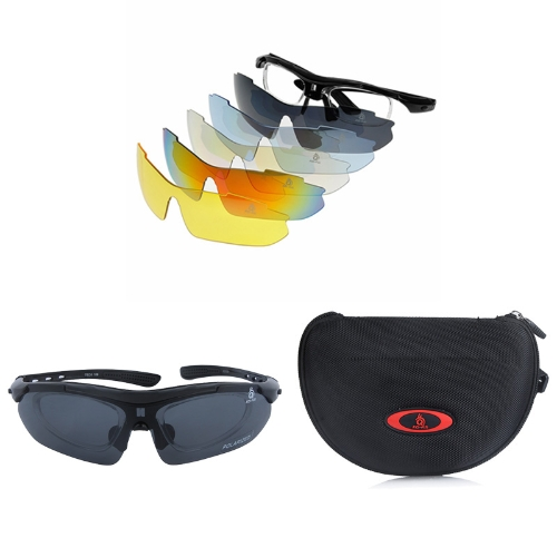 Buy Outdoor Sports Bicycle Cycling Glasses Polarized Sunglasses 5 Replaceable Lenses UV400 Unisex