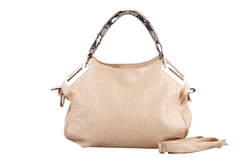 Buy Fashion Women Handbag Crocodile Pattern PU Leather Tote Bag Shoulder Messenger Khaki