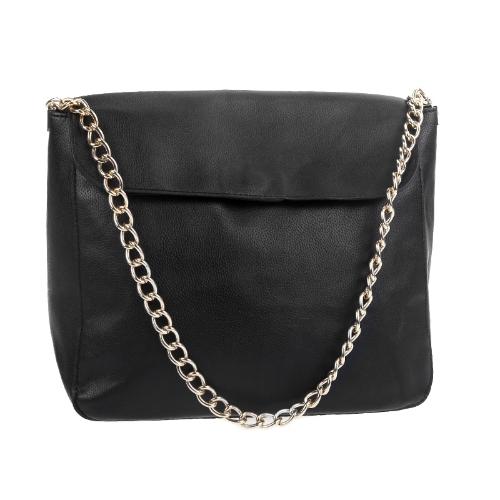 Buy Korean Retro Vintage Woman Lady Chain Shoulder Messenger Handbag Satchel Black