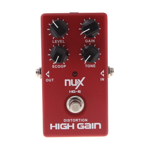 $4 OFF NUX HG-6 Guitar Distortion High Gain Red,free shipping $21.99