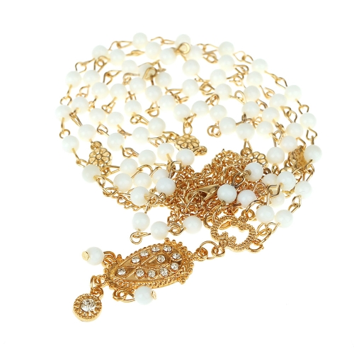 Romantic Bohemia Style Bead Head Chain Women Fashion Vintage Retro Crystal Stone Hair Jewelry Drop Pendant Band Headdress Headwear for Bride Wedding Summer Party от Tomtop.com INT