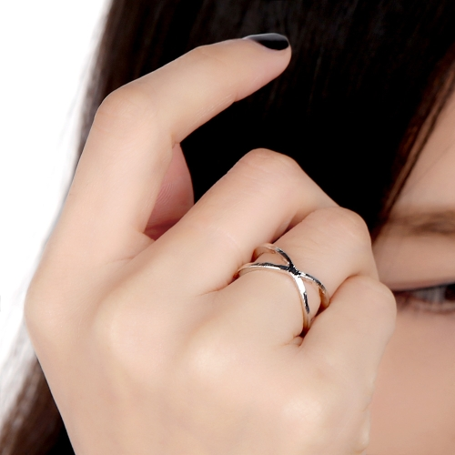 Korean Simple Ring Fashion Girls Double Round Cross Jewelry Golden Silver Finger Knuckle Acessory for Woman от Tomtop.com INT