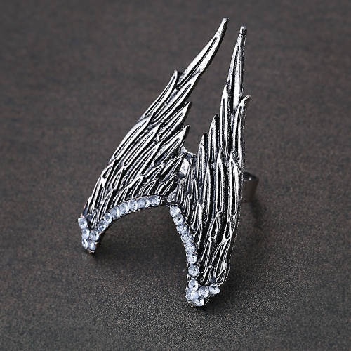 Fashion Charming Design Vintage Personality Angels Wing Stretch Adjustable Ring от Tomtop.com INT