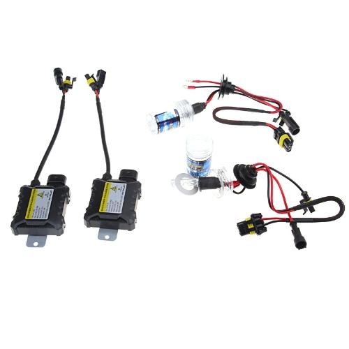 Buy H3 55W 6000K 9-16V Xenon HID Conversion Kit Set Replacement Single Beam Slim Ballast Headlamps Foglight Bulbs Lights
