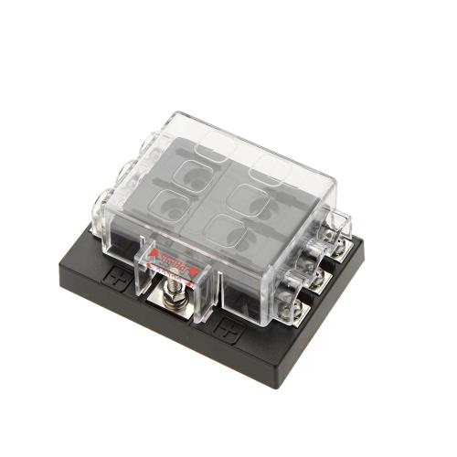 k1839 4 92bc 6 way circuit 32v dc blade fuse box block holder for auto car  at soozxer.org