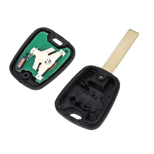 Buy 2 Buttons Remote Control Car Key Case Shell Fob Replacement Protection Cover Uncut Blade 433MHz Transponder Chip ID46 P / N 73373067C Peugeot 307
