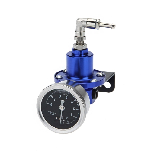 Professional High Performance Adjustable Fuel Pressure Regulator with Filled Oil Gauge for Car Auto от Tomtop.com INT