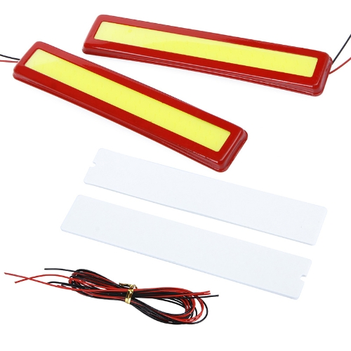 2Pcs 5W Super Bright LED Car Fog DRL Daytime Running Lights Waterproof Ultra-thin Red от Tomtop.com INT