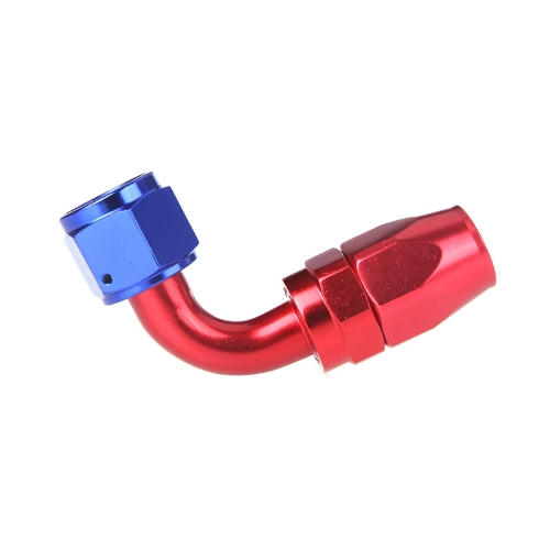 Buy AN10 90degree Swivel Oil Fuel Hose End Fitting Adapter Aluminum Red