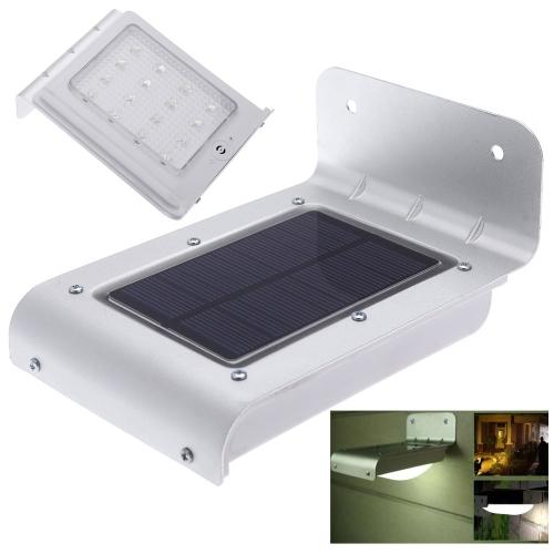 Buy Solar Powered 16 LED Water-resistant Outdoor Lighing Lamp/ Wall Light Ray/Sound Sensor Energy Saving Garden Path Yard