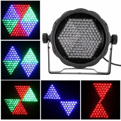 Buy AC90-240V 25W 169 RGB LEDs Effect Light DMX512 Voice-control Stage Lighting Disco DJ KTV Bar Party Show