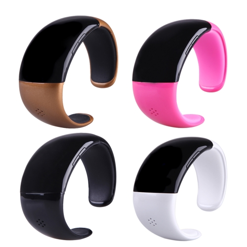 Wireless Bluetooth Bracelet Watch with Microphone Speaker Receive Reject Incoming Call Anti-loss Alarm Multifunctional Fashion White
