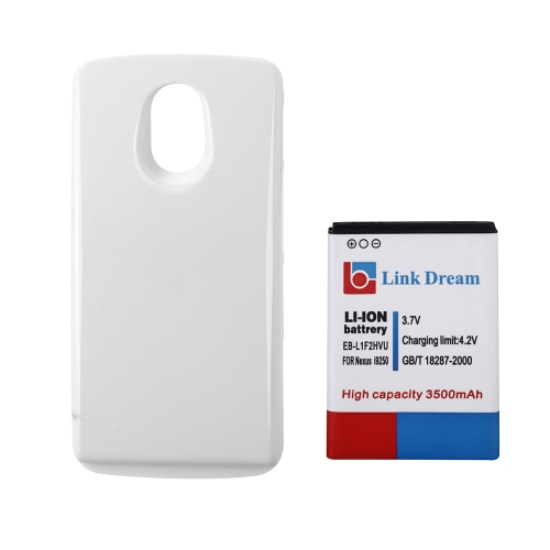 Buy 3500mAh Rechargeable Li-ion Battery High Capacity Replacement + White Back Cover Samsung Galaxy EB-L1F2HVU Nexus I9250 Prime