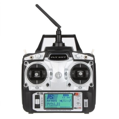 Buy Original Flysky FS-T6 High Precision 2.4GHz 6CH Mode 2 Transmitter W/Receiver R6-B RC Multirotor Quadcopter Helicopter Airplane Glider Car