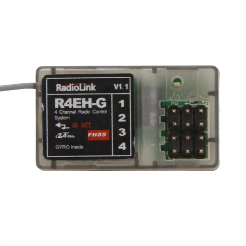 Buy Original RadioLink R4EH-G 2.4G 4CH Gyro Function Receiver RC3S RC4G Transmitter RC Car Boat