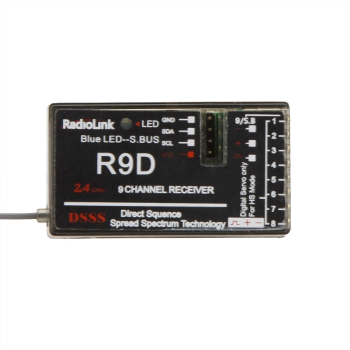 Buy Original RadioLink R9D 2.4G 9CH DSSS Receiver AT9 AT10 Transmitter RC Helicopter Multirotor Support S-BUS