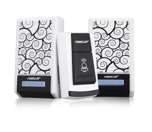 Buy Forecum 5F Waterproof Wireless Smart Doorbell Two Receivers DC Door Bell 36 Chimes 100m Range Home Office