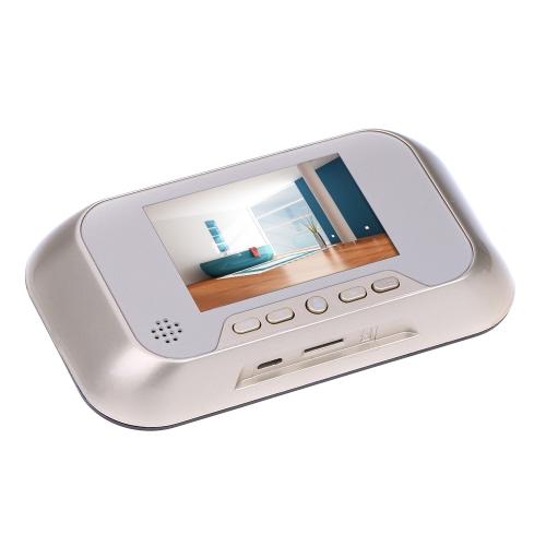 "3.0"" Smart Peephole Viewer Visual Doorbell Night Vision Camera Video Photo Recording 0.3MP"