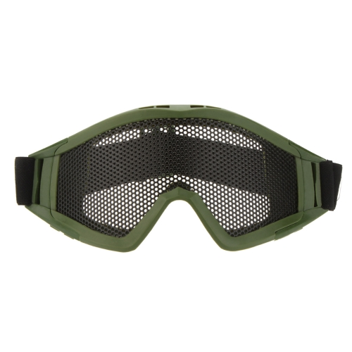 Buy Adjustable Belt Goggles Lightweight Anti-fog Shock Resistant Eye Protection Metal Mesh Glasses Airsoft Games Sports