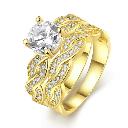 Buy R005-A-8 Nickle Free Antiallergic New Fashion Jewelry K Gold Plated Ring